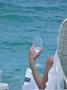 It's a sip of wine, it's summertime:)