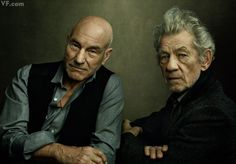 Patrick Stewart and Ian McKellen, photographed by Annie Leibovitz. See more of Vanity Fair's best photographs.