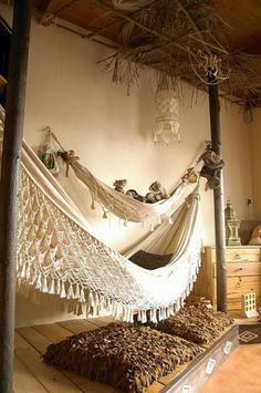 hamac, intérieur, extérieur, décoration