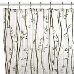 Bamboo Vinyl Shower Curtain - BedBathandBeyond.com