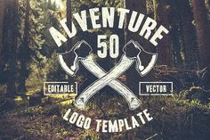 50 Retro Adventure Logo by TSV Creative on @creativemarket
