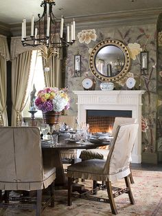 Slipcovered Dining Room