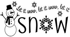 Let It Snow vinyl lettering Christmas home decor decal wall sticker art