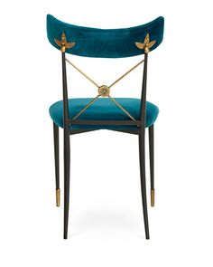 Shop Rider Blue Dining Chair from Jonathan Adler at Horchow, where you'll find new lower shipping on hundreds of home furnishings and gifts. Dinning Chairs, Kitchen Chairs, Outdoor Chairs, Dining Rooms, Dining Table, Home Staging, Blue Furniture, Furniture Chairs, Outdoor Furniture
