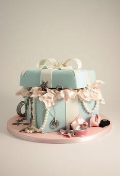 Peggy Porschen Cakes, Tiffany Box Birthday Cake.