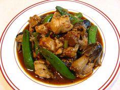 Black Bean Chili Sauce Sugar Snap Pea Chicken (黑豆辣椒蜜豆鷄, Hak1 Dau6 Laat6 Ziu1 Mat6 Dau6 Gai1)