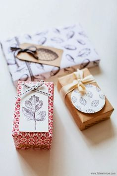 50 of the most beautiful Christmas gift wrapping ideas (with stacks of free printables!) is part of Gift wrapping, Gift tags printable, Christmas gift tags, Gift wrapping inspiration, Christmas gift w - Christmas Gift Wrapping, Christmas Tag, Christmas Crafts, Christmas Packages, Creative Gift Wrapping, Creative Gifts, Wrapping Ideas, Pretty Packaging, Gift Packaging