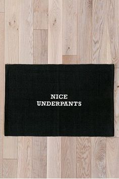 Nice Underpants Handmade Mat, Urban Outfitters - Main floor powder room