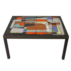 Ceramic Top Table By Thierry Tillier, 1960s.