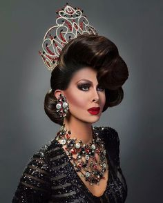 """Trinity """"The Tuck"""" Taylor / Drag Queen / RuPaul's Drag Race Drag Queens, Trinity Taylor, Drag Wigs, Rupaul Drag Queen, Drag Queen Makeup, Pageant Hair, Queen Hair, Amazing Women, Amazing People"""