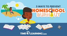 Five practical tips for dealing with homeschool burnout from Time4Learning's homeschool mom.
