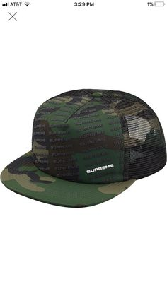 3fef275bf5e Supreme Repeat Mesh Snapback 5-panel Hat Woodland Camo  fashion  clothing   shoes  accessories  mensaccessories  hats  ad (ebay link)