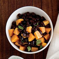 Cooking Light Dinner Tonight:  Warm Sweet Potato and Black Bean Salad, Serve with: Flank Steak Tacos with Slaw