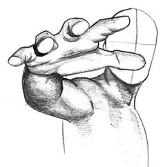 Up close hand view. Shows the perfect depth and dimensions for any beginning artist to practice this Mutant Power pose.