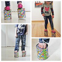 DIY TOY: Tin Can Stilts | BABBLE DABBLE DO | #kidscrafts #kidsactivities