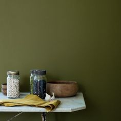 Wild Olive paint from Fired Earth.