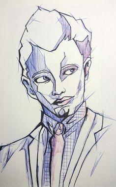 Portrait au bic inspiré des travaux de Johannes Siemensmeyer. Joker, Colour, Texture, Portrait, Fictional Characters, Art, Color, Surface Finish, Art Background