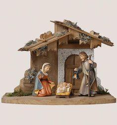 Holy Family Carved Nativity