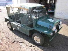 1966 Mini Moke - BMC designed and built these cars on spec to sell to the British Military (for Airborne use); they were never accepted and sold in the civilian market.