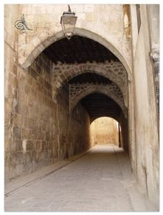 An Old alley in Aleppo-Syria