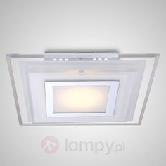 Lampa sufitowa LED AMOS, kwadratowa, 25 cm bezpieczne & wygodne zakupy w sklepie internetowym Lampy.pl.