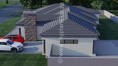 4 Bedroom House Plan - 4 Bedroom House Plan – My Building. - 4 Bedroom House Plan – 4 Bedroom House Plan – My Building Plans South Afri - Split Level House Plans, Square House Plans, Metal House Plans, My House Plans, Family House Plans, My Building, Building Plans, 6 Bedroom House Plans, House Plans South Africa