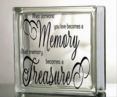 When someone you love Glass Block Decal Tile Mirrors DIY Decal for Glass Blocks When someone you love