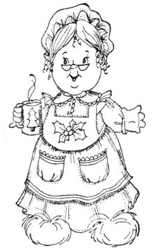 mrs claus coloring page - blanco y negro 2 on pinterest picasa artesanato and