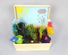 Sunny Rainy Felt Fabric Vegetable Garden Play Set Toy by Florfanka