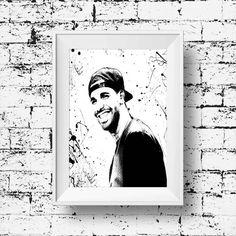 Drake Print Drake Poster Drake Rapper Music Art by BelugaStore