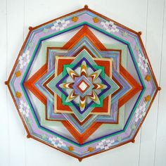 Forest Sun an 18 inch 8sided ojo de Dios mandala by JaysMandalas, $75.00