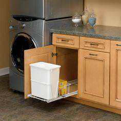 kitchen cabinet parts 3 compartment sink 98 best organizers images cupboards kitchens rev a shelf single trash pullout 20 quart white cabinetparts com