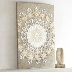 These Beautiful Rectangular Grey Carved Wooden Wall Panels
