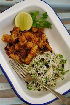 Cumin Spiced Squid with Coconut, Pistachio, Mint & Coriander Salad ...