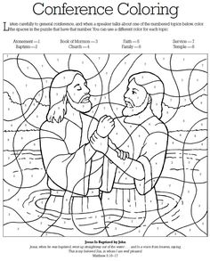 General Conference Coloring.  Link is dead, but you can open this image and print it and it turns out great.
