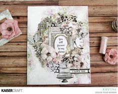 Mixed media canvas with Romantique collection by Kavitha - Kaisercraft Official Blog
