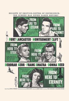 VINTAGE MOVIE POSTER From Here to Eternity by EncorePrintSociety
