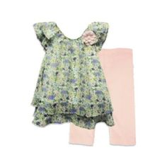 Pippa & Julie® 2-Piece Floral Chiffon Legging Set - Such a pretty, feminine outfit Laura!