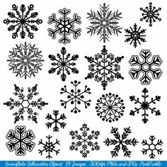 Snowflake Silhouette Clip Art