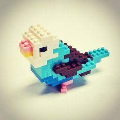 #nanoblocks #parakeet Photo by @happymundane on Instagram