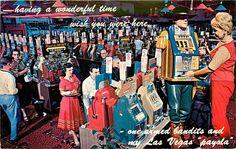 Las Vegas NV Mint Casino Downtown Gambling Room w One Armed Bandits