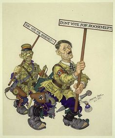 Arthur Szyk's 1944 cartoon showing the axis leaders hoping for a less aggressive successor.