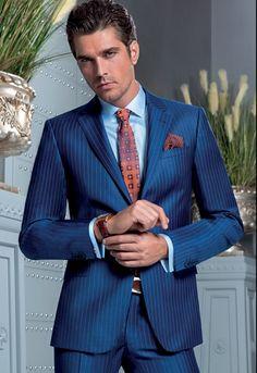 Sergio Pankov Mens Tailored Suits, Mens Suits, Suit Fashion, Mens Fashion, Mens Traditional Wear, Blue Suit Men, Western Suits, Designer Suits For Men, Classy Men