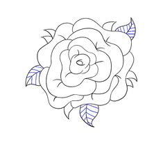 rose drawing draw easy flower simple drawings guides