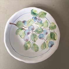 Blueberry Bowl Maiolica Potter by Laurie Curtis