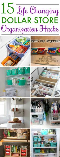 15 Dollar Store Organization Ideas For Every Area In Your Home. I love these cheap storage hacks to get my whole house organized! The worst rooms of mine are the kitchen and bathroom. Time to take a trip to the dollar tree!/getting organized at home Organisation Hacks, Bathroom Organization, Organization Store, Bathroom Storage, Bathroom Ideas, Kitchen Storage, Bathroom Closet, Organized Bathroom, Small Bathroom