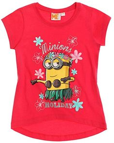 MINIONS - Camiseta de manga corta - para niña #camiseta #realidadaumentada #ideas #regalo