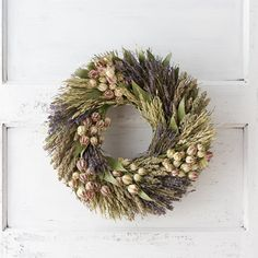 Bay and Lavender Wreath - I need a spring and summer wreath for my door.  $68, pfft!  I can make this!  :)