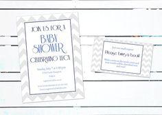 Chevron Baby Shower Invitation