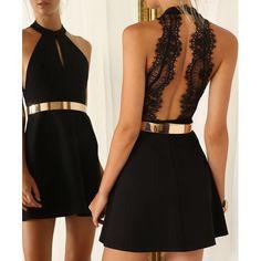 Sexy Jewel Neck Sleeveless Cut Out Women's Dress | TwinkleDeals.com